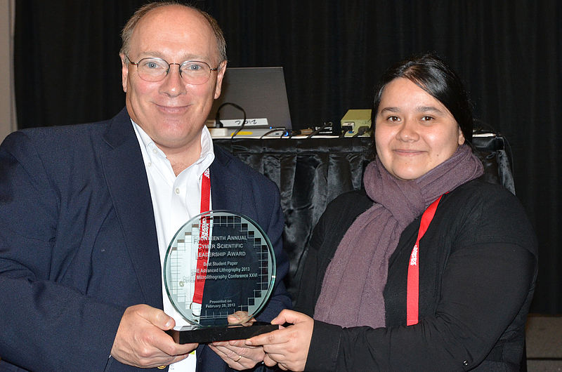 "Towards entry ""Cymer Scientific Leadership Award to Viviana Agudelo Moreno"""